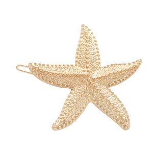 Retro simple alloy five-pointed star hair accessories NHHN152711's discount tags