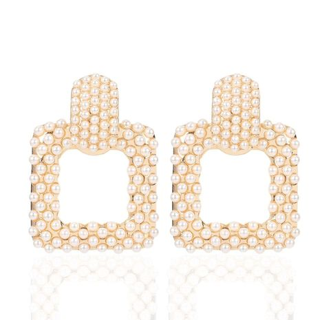 Creative geometric alloy pearl earrings NHCT152721's discount tags