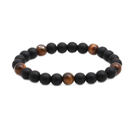 Bracelet perlé en pierre volcanique blanc turquoise NHYL152733's discount tags