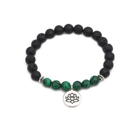 Bracelet mode lotus bouddhiste en pierre volcanique NHYL152737's discount tags