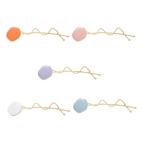 Geometric round alloy drop oil candy hair accessory NHHN152742's discount tags