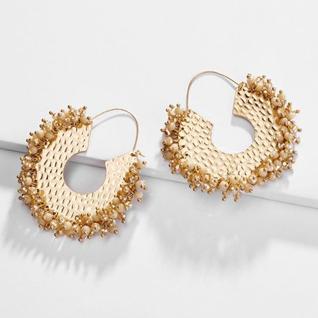 Womens Geometry Electroplating Alloy Earrings NHLU152744's discount tags