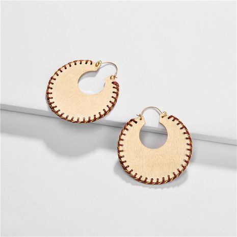 Womens Geometry Electroplating Alloy Earrings NHLU152751's discount tags