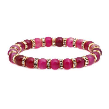 Bracelet en perles d'agate de couleur élégante NHYL152758's discount tags