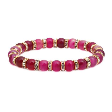 Stylish color agate beaded bracelet NHYL152758's discount tags