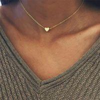 Collar de corazón de aleación de metal simple NHPF152775