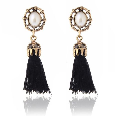 Fashion Pearl Tassel Earrings NHPF152790's discount tags