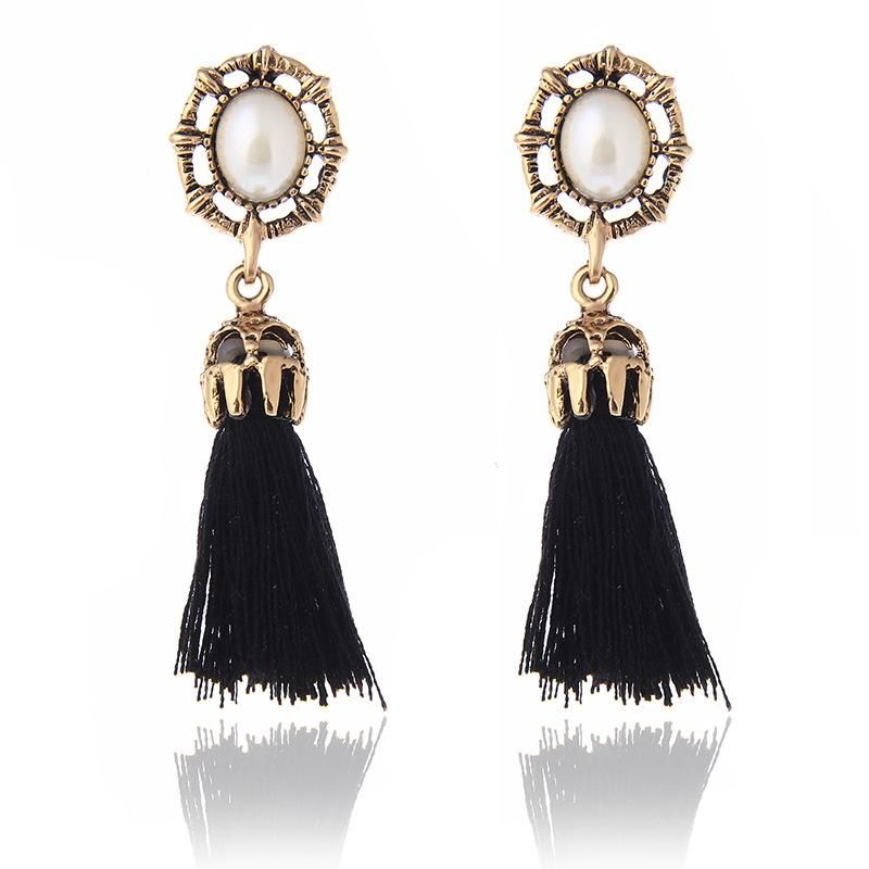 Fashion Pearl Tassel Earrings NHPF152790