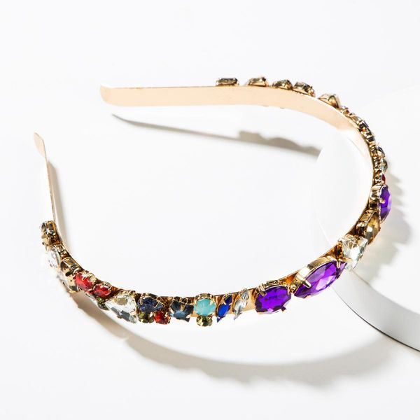 Diadema de diamantes de imitación de color de aleación de moda NHJE152800