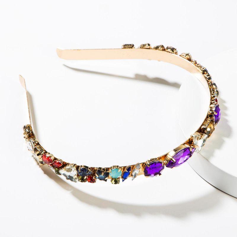 Fashion alloy color rhinestone headband NHJE152800