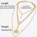 Womens Ushaped plated aluminum Necklaces NHCT152650