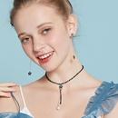 Fashion stars imitation pearl crystal choker NHLL152671