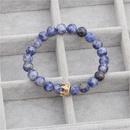 Fashion white orchid powder crystal crown bracelet NHYL152732