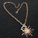 Fashion imitation pearl with diamond Glock necklace NHCT152752