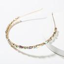 Fashion alloy color rhinestone headband NHJE152798