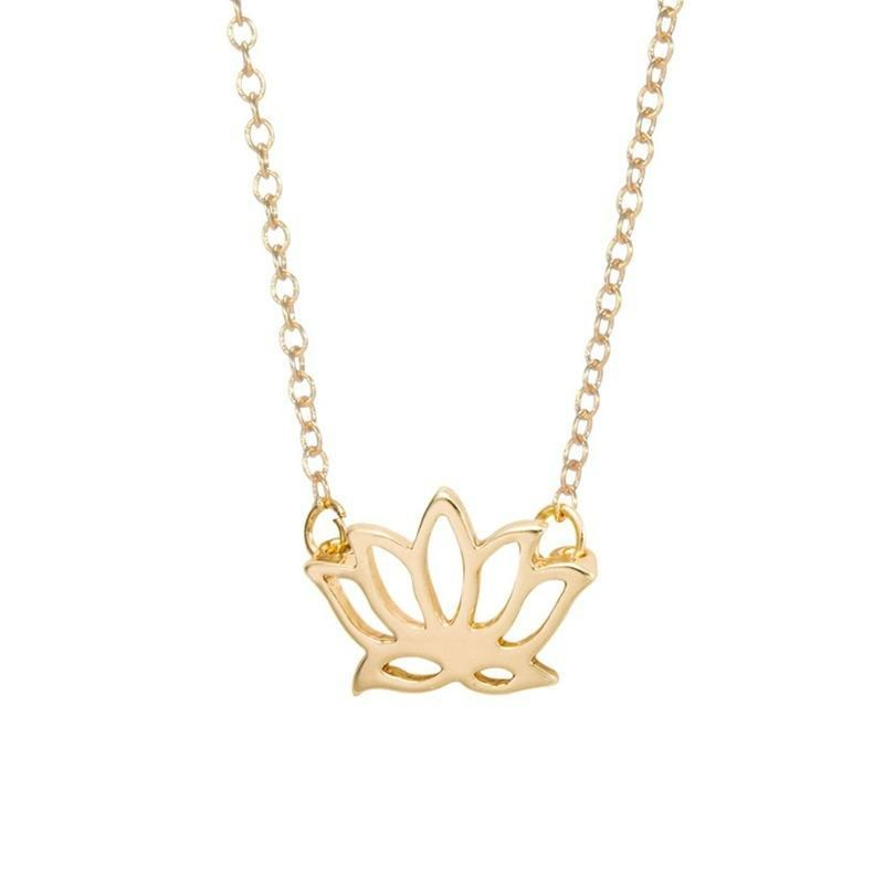 Womens Floral Electroplating Alloy Necklaces NHCU152856