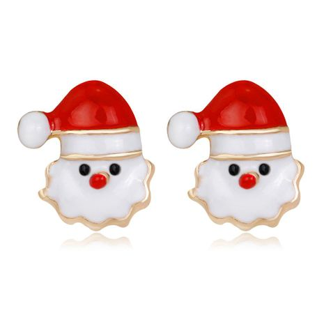 Fashion personality cute alloy oil Santa Claus earrings NHDR152875's discount tags