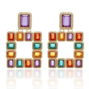 Fashion color matching acrylic alloy earrings NHPF152881's discount tags