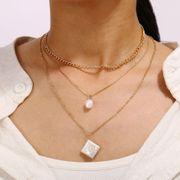 Collier de perles de chaîne de clavicule chaîne de perles vintage créatif NHPJ152899