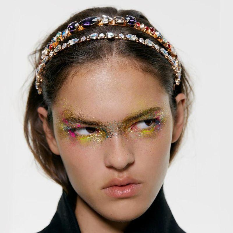 Fashionable temperament diamond jewellery alloy artificial gemstone headband NHMD152940