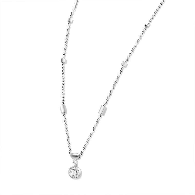 Womens geometric plated titanium steel Necklaces NHOK152939