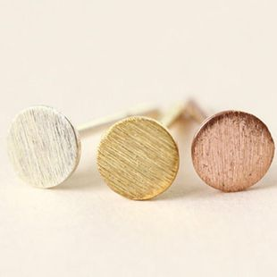 European and American retro minimalist brushed disc alloy earrings NHCU152949's discount tags