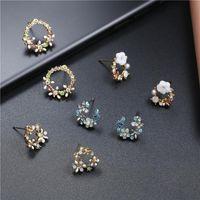 Aretes de anillo de guirnalda de color dulce coreano NHPF152978