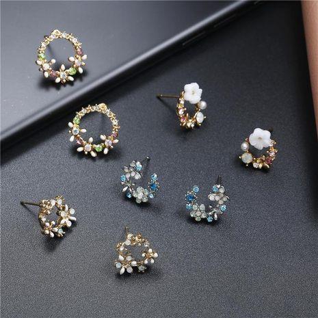 Aretes de anillo de guirnalda de color dulce coreano NHPF152978's discount tags