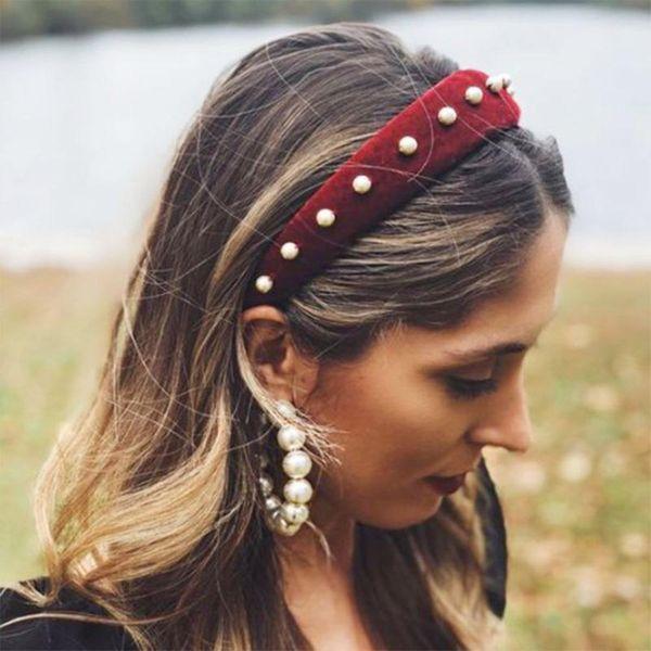Vintage Palace Wind Baroque Pearl Headband NHMD152980