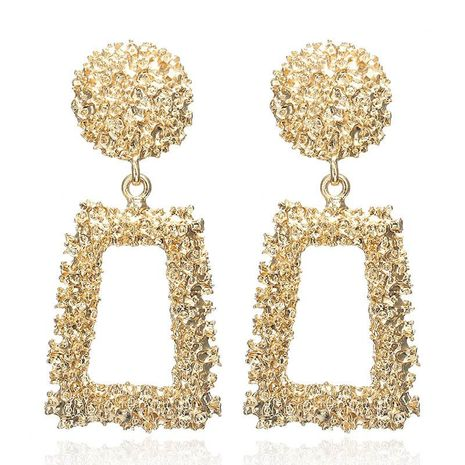 Creative personality vintage embossed metal earrings NHPF152987's discount tags