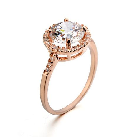 Korean version of the delicate micro-set round zircon ring NHLJ152994's discount tags