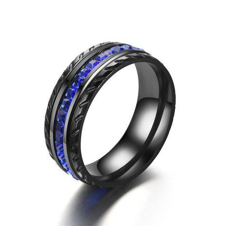 Fashion slash black blue square zircon ring NHTP152999's discount tags