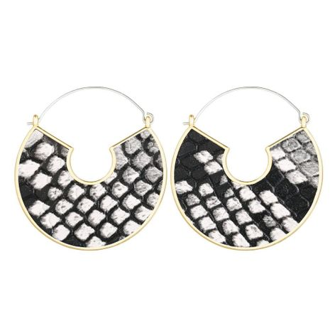 Creative retro solid color artificial PU leather earrings NHPJ153005's discount tags