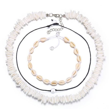 European and American artificial pearl shell necklace set 3 sets NHPJ153006's discount tags