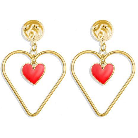 Creative Vintage Double Heart Five Pearl Eye Earrings NHPJ153007's discount tags