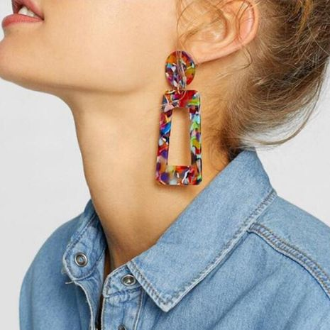 Womens Geometry Electroplating Alloy Earrings NHPF153012's discount tags