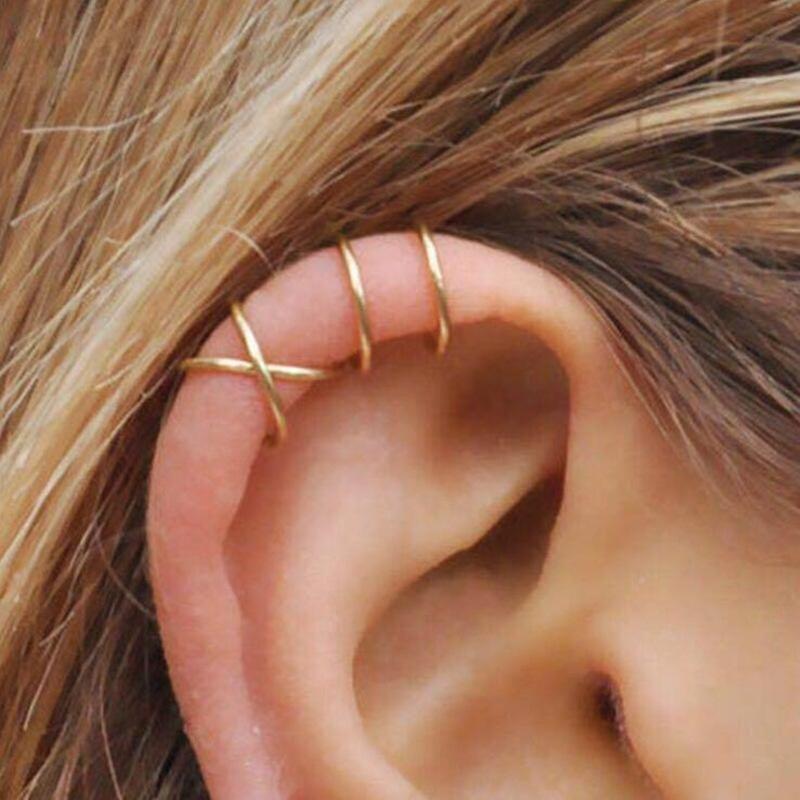Unisex Geometry Electroplating Alloy Earrings NHPJ153013