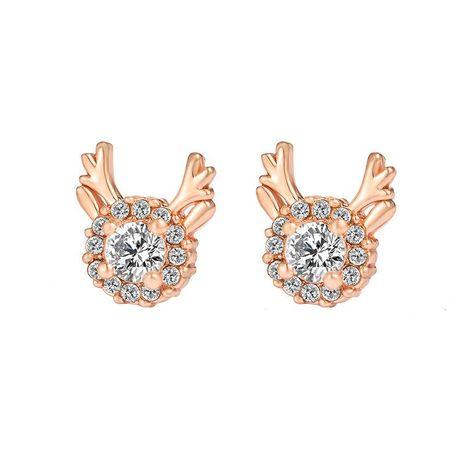 Christmas snowflake zircon antler stud earrings NHDP153021's discount tags