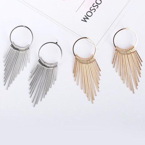 Circle multi-layer tassel earrings NHDP153026's discount tags