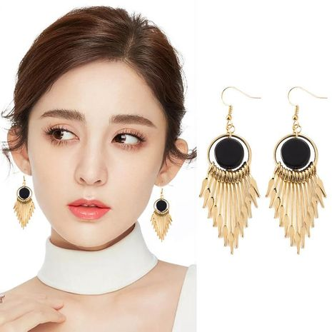 Alloy long round earrings NHDP153024's discount tags