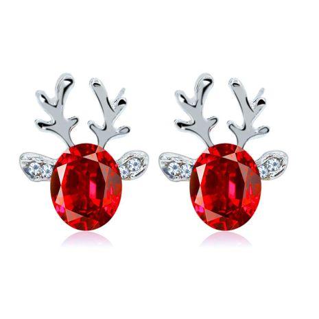 Christmas Crystal Antler Stud Earrings NHDP153030's discount tags
