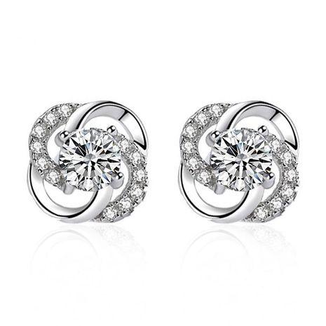 Stylish zircon flower windmill hollow stud earrings NHDP153032's discount tags