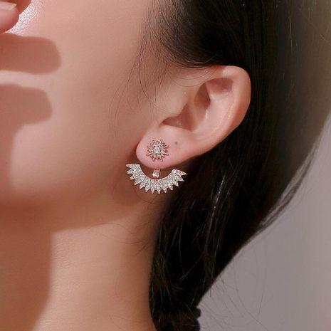 Fashion full sun flower stud earrings NHDP153037's discount tags