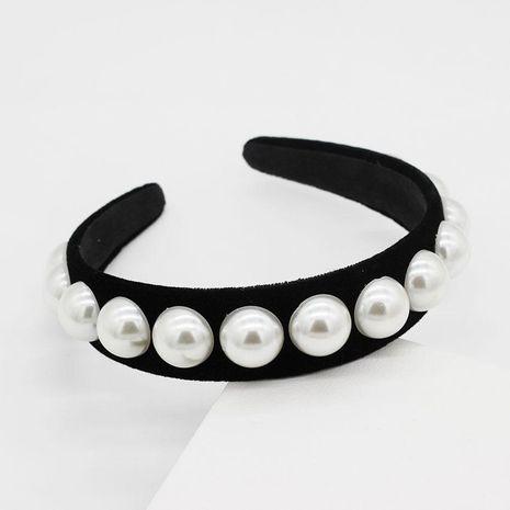 New flannel sleek minimalist pearl headband NHWJ153073's discount tags