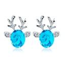Christmas Crystal Antler Stud Earrings NHDP153030
