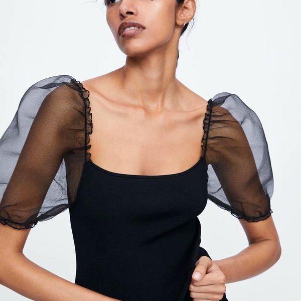 Summer awning sleeve sweater T-shirt NHAM153079