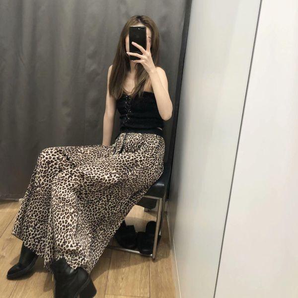 Leopard pants women's wide-leg pants casual straight pants NHAM153193