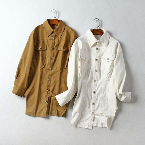 Otoño slim adelgazar traje falda larga camisa NHAM153220's discount tags