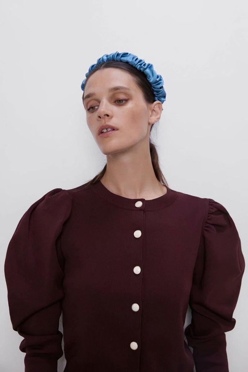 Autumn buttoned sweater jacket NHAM153248