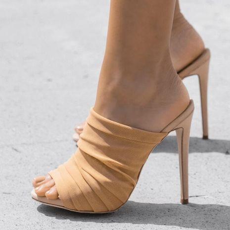 Sandalias y pantuflas de malla arrugadas y transpirables súper hadas NHSO153256's discount tags